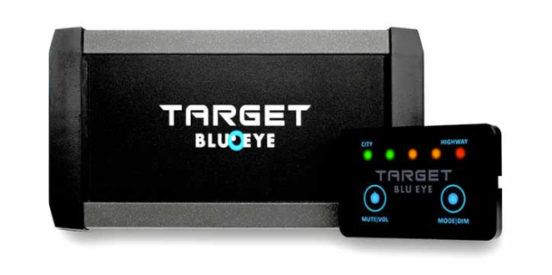 Target blu eye for vehicles